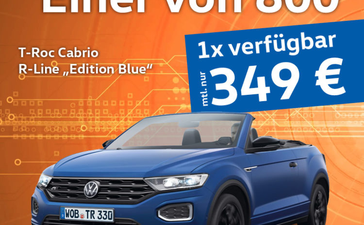 T-Roc Cabrio Edition Blue